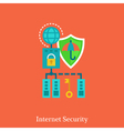 Internet security and local nets flat concept vector image vector image