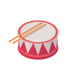 isometric toy and musical instrument in vivid vector image
