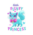 little fluffy princess vector image vector image