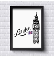 London and Big Ben vector image