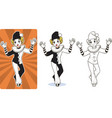 mime white clown circus character vector image