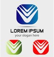 Modern abstract logo template icon Editable vector image vector image