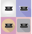 multimedia flat icons 15 vector image