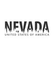 nevada usa united states of america text or vector image vector image