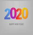 new year card grey background vector image vector image