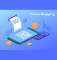 online mobile phone shopping vector image