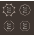 ornate richly decorated vintage frame in vector image vector image