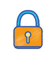 padlock security protection object to privacy vector image vector image