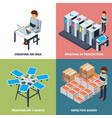 printing office isometric printer laser colored vector image vector image