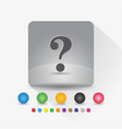 question mark icon sign symbol app in gray square vector image vector image