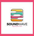 round square radio signal logo vector image vector image