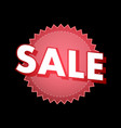 sale sticker in red color on black vector image vector image