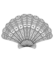 Seashell coloring vector image vector image