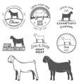 set boer goat labels and design elements vector image vector image