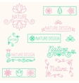 set linear ornament elements eco-design vector image vector image
