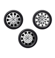 set of isolated wheels vector image vector image