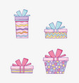 set presents gift box to happy birthday vector image