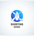 shooting range abstract icon symbol or vector image vector image