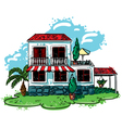 sketchy doodle hand-drawn house cottage vector image vector image