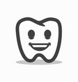 smiling outline tooth icon modern design vector image