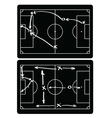 Soccer match infographic elements Flat design vector image vector image