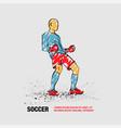 soccer winner gesture silhouette a football vector image