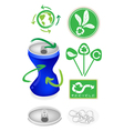 Soda Can with Recycle Symbol for Save The World vector image vector image