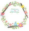 Spring Season Icons Wreath vector image vector image