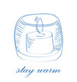stay warm concept vector image