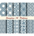Ten Abstract Seamless Patterns vector image vector image