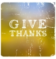 Thanksgiving greeting cards vector image