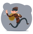 Thief Escapes with Loot Run Character Retro vector image vector image