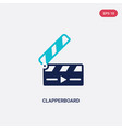 two color clapperboard icon from electronic stuff vector image