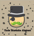uncle mustache abstract vector image vector image