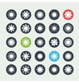 White sun icons set vector image vector image