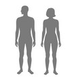 woman and man silhouette vector image