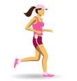 woman jogging vector image