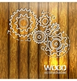 wood texture with gears design vector image