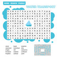 word puzzle template with water transportation vector image vector image