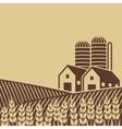 farm in field vector image