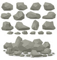 rock stone cartoon in isometric 3d flat style set vector image