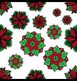 seamless zen doodle mandala background for vector image