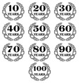 10 100 anniversary laurel wreath icon4 vector image vector image