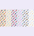 abstract seamless pattern with colorful triangles vector image