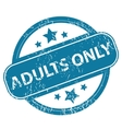 ADULTS ONLY round stamp vector image