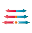 arrows and puzzle piece vector image