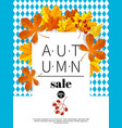 autumn sale vintage typography poster vector image vector image