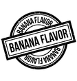Banana Flavor rubber stamp vector image vector image