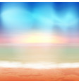 beach and blue sea tropical background vector image vector image