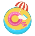 best summer vacation pink vector image vector image